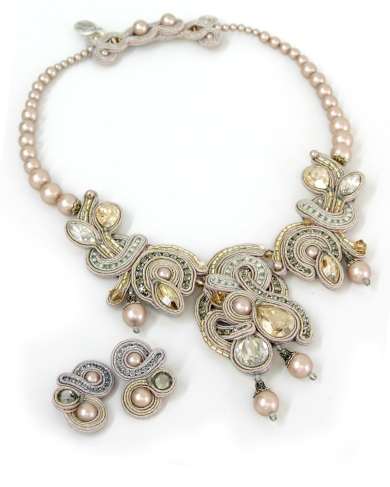 """Desiree"" necklace and earrings from Dori Csengeri's Bridal collection"