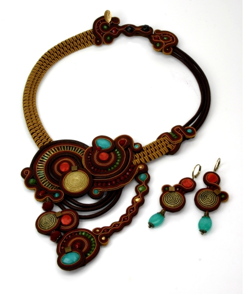 Alora boho chic necklace & earrings by Dori Csengeri