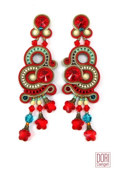 Joie earrings, the perfect sparkly accent to liven up any outfit during the holiday season and after....