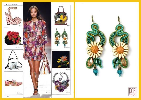 Dori's Capri earrings as seen in Collezioni Accessori magazin