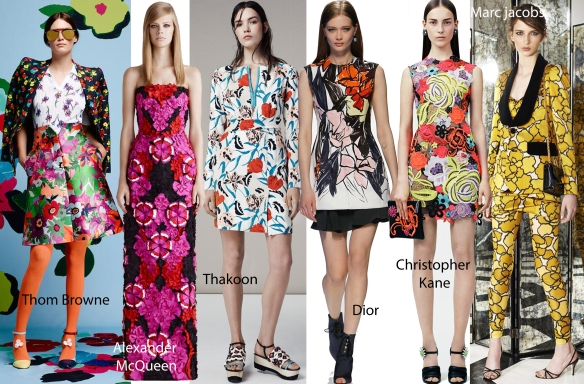 floral prints on the runways ss2015