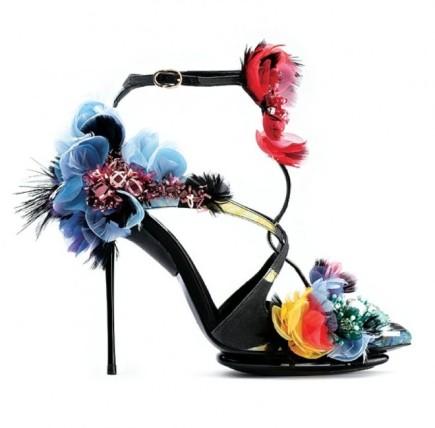 Roger Vivier iconic floral sandals