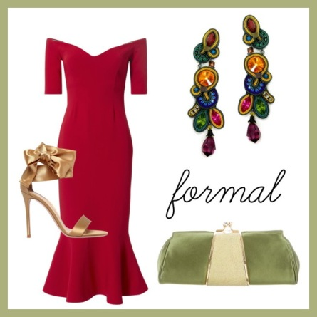 formal wedding with border